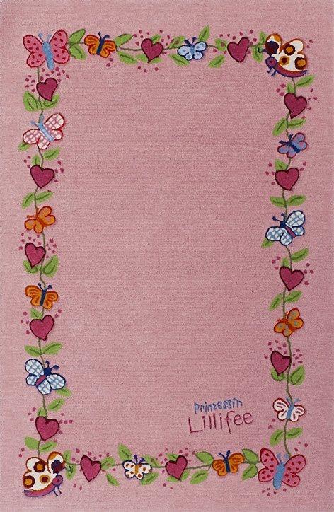 Teppich, Prinzessin Lillifee, »LI-2153-01«, handgetuftet, Konturenschnitt, Brilliante Farben in rosa