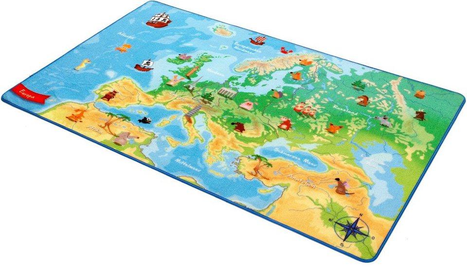 Kinder-Teppich, Böing Carpet, »Europakarte EU-2« in grün