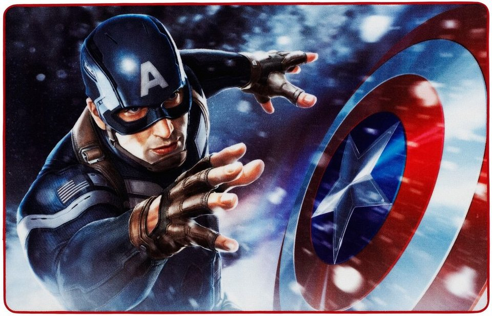 Kinder-Teppich, Marvel, »Captain America CA-1« in blau