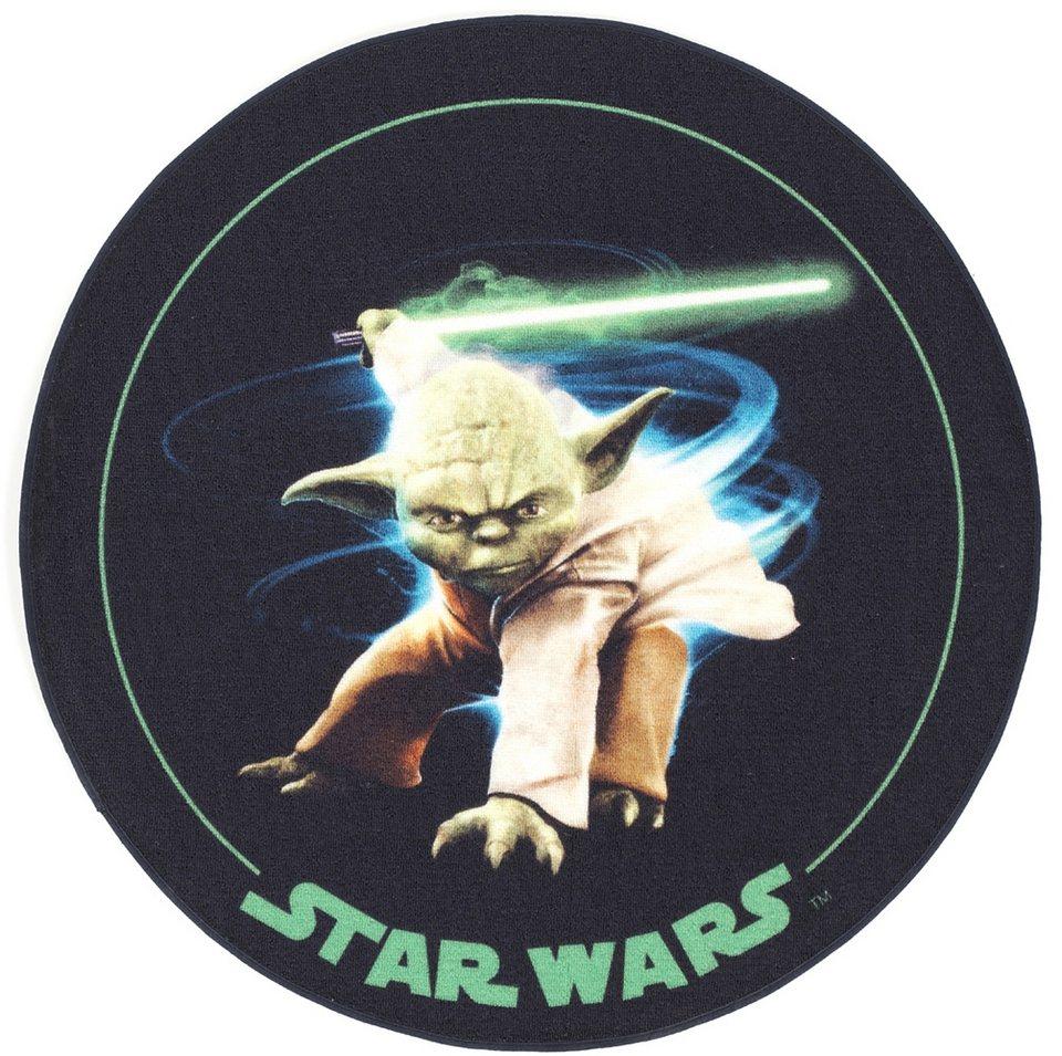 Kinder-Teppich, Star Wars, »SW-10, Yoda«, Rund in beige