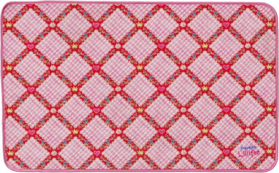 Fußmatte, Prinzessin Lillifee, »LI-104«, rutschhemmend beschichtet in rosa