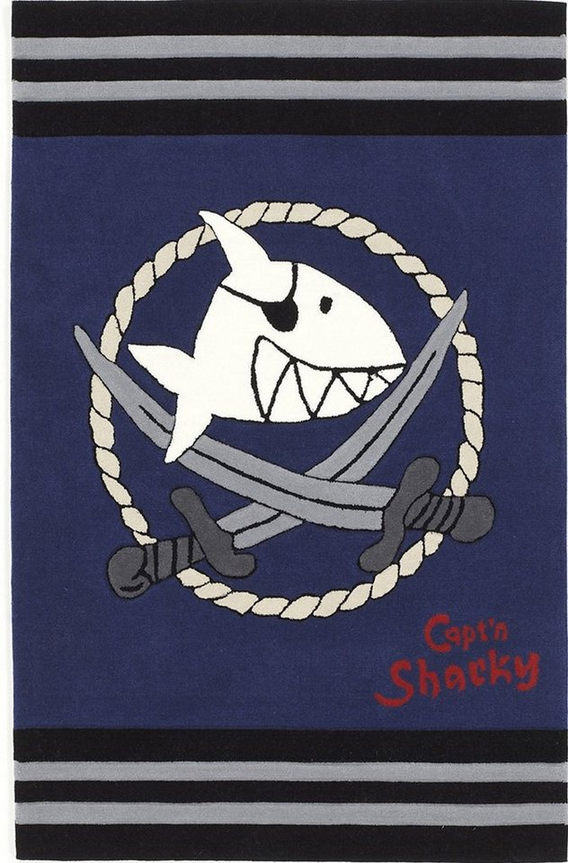 Kinder-Teppich, Capt'n Sharky, »SH-2937-01«, Handgetuftet
