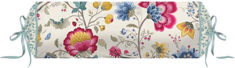 Nackenrolle, PiP Studio, »Floral Fantasy«, mit Blumen verziert in creme
