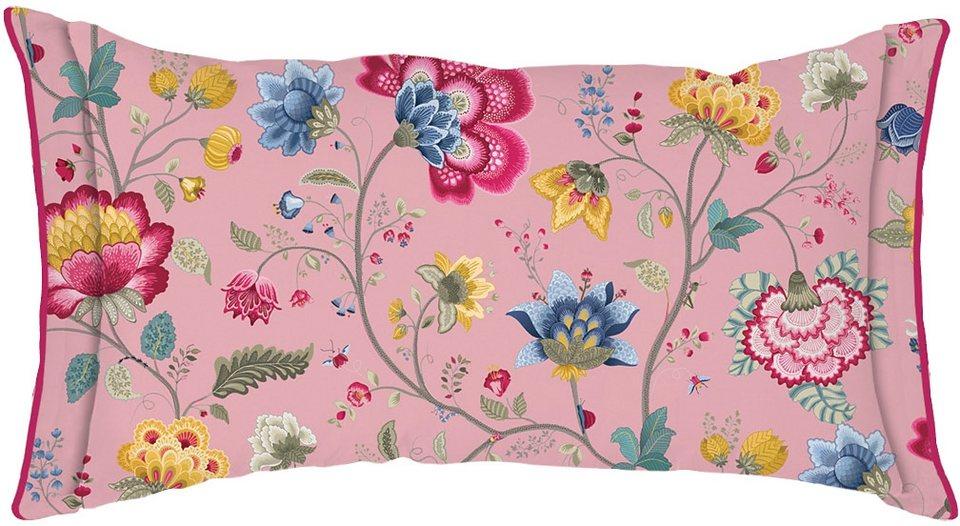 Dekokissen, PiP Studio, »Floral Fantasy«, mit Schleifen in altrosa