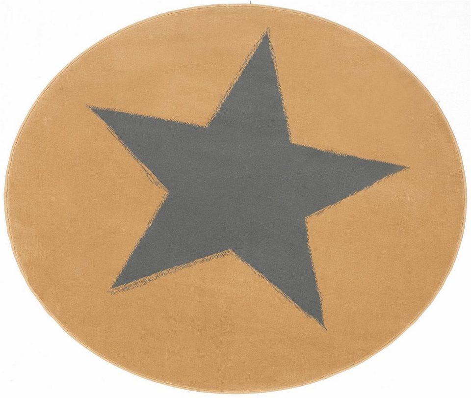 Teppich, Hanse Home, »Stern«, rund, Trendmotiv, modern in beige grau