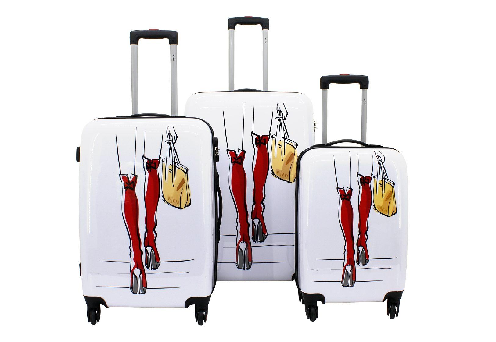 F23™, Trolley-Set mit 4 Twisterrollen, »Sexy Legs« (3tlg.)