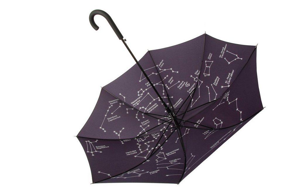 Doppler Regenschirm, Automatik Stockschirm mit Sternenhimmel »Astro«