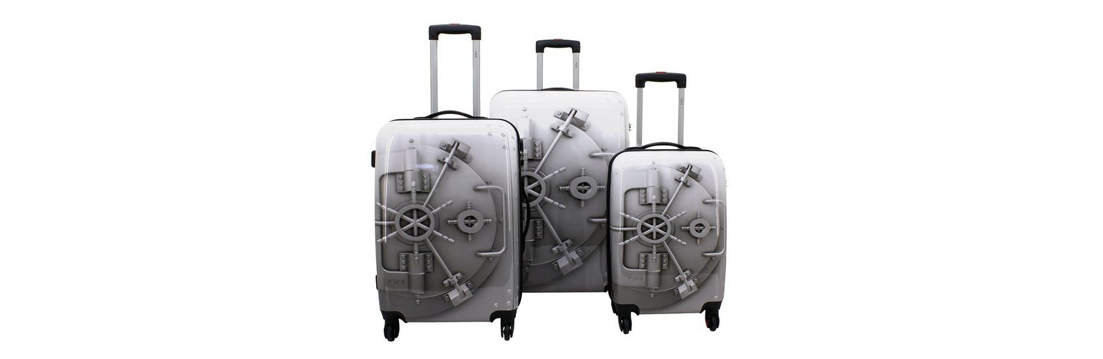 F23™ Trolley-Set mit 4 Twisterrollen, »Tresor« (3tlg.)