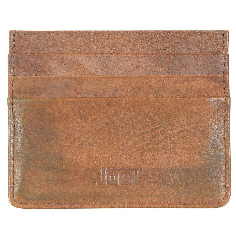 JOST Ranger Kreditkartenetui Leder 10 cm in cognac