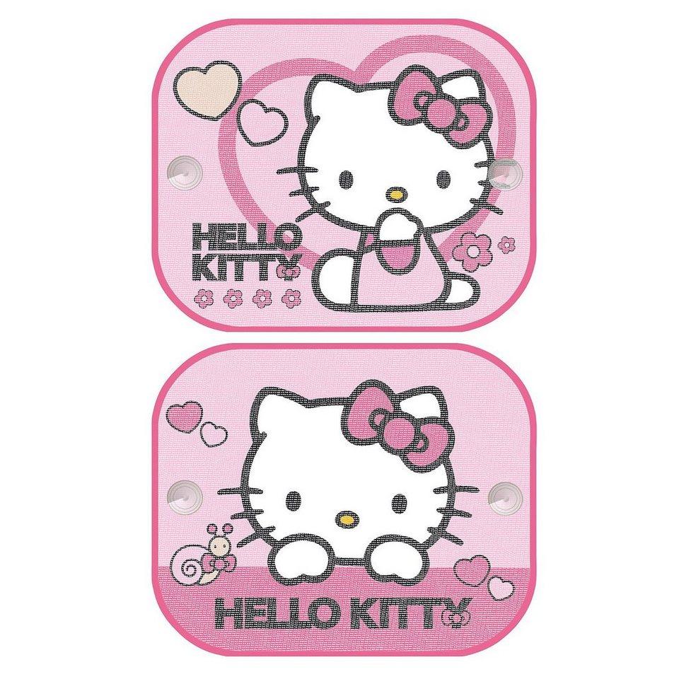 Kaufmann Sonnenschutz für Seitenscheibe, Hello Kitty, 2er Pack in rosa
