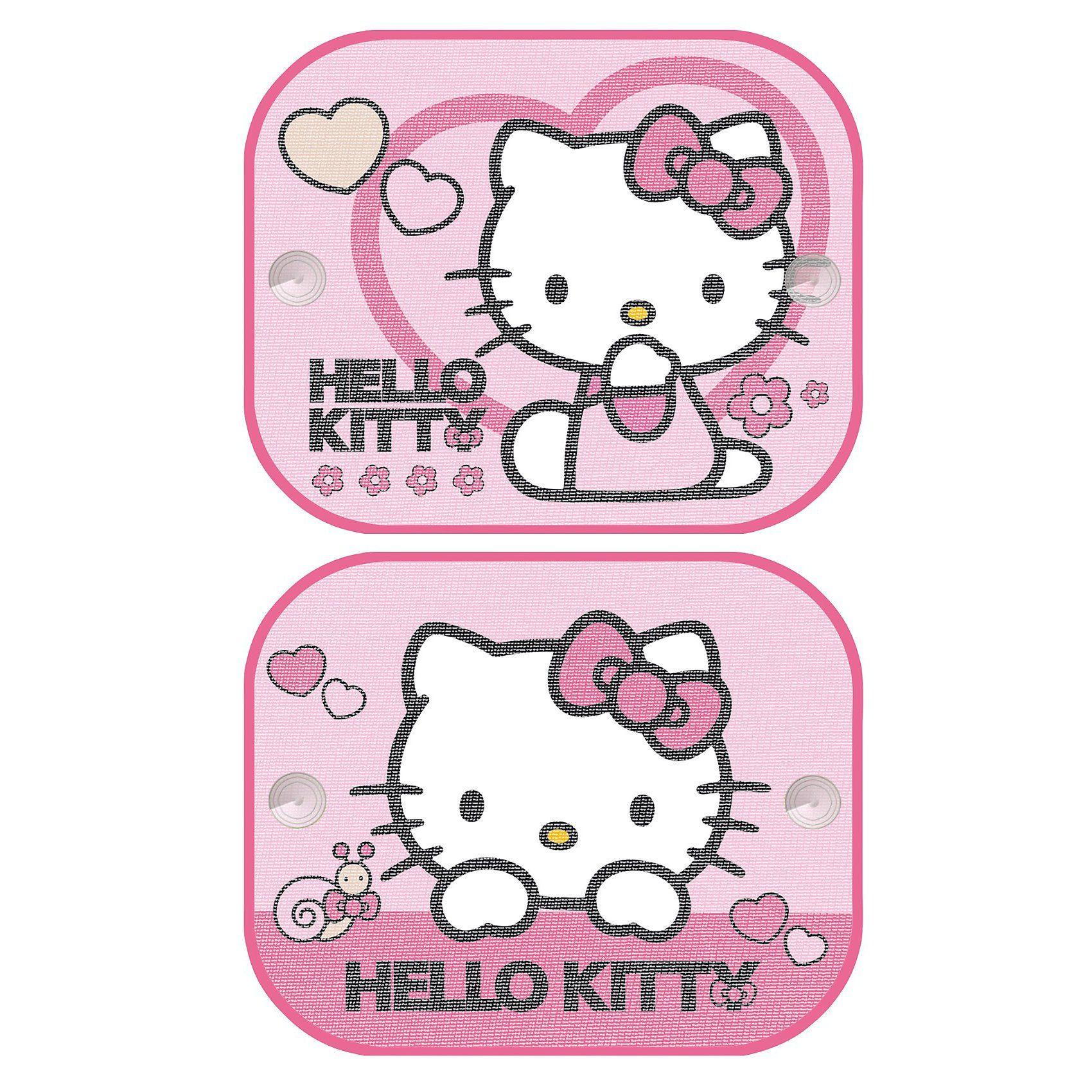 Kaufmann Sonnenschutz für Seitenscheibe, Hello Kitty, 2er Pack