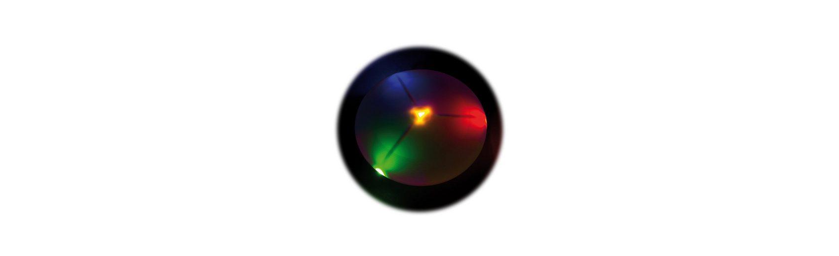 LED Wurfscheibe leuchtend
