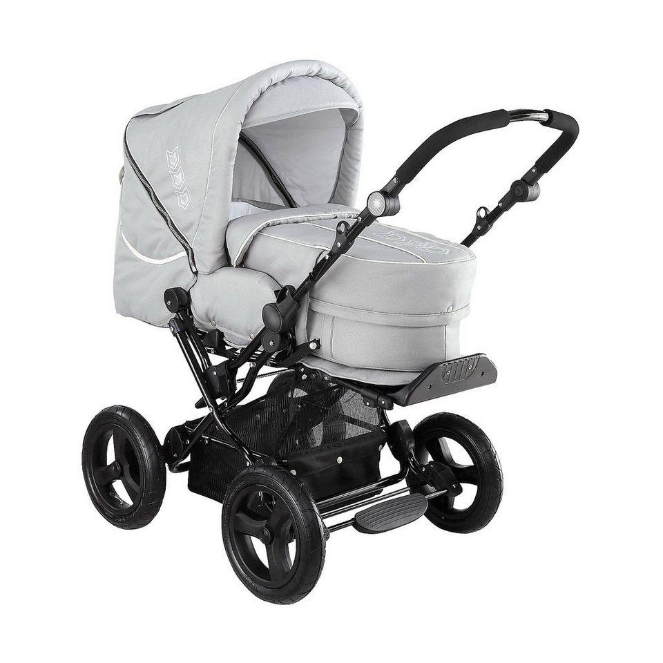 knorr baby kombi kinderwagen nizza deluxe mit 3in1 tragetasche hellgr online kaufen otto. Black Bedroom Furniture Sets. Home Design Ideas