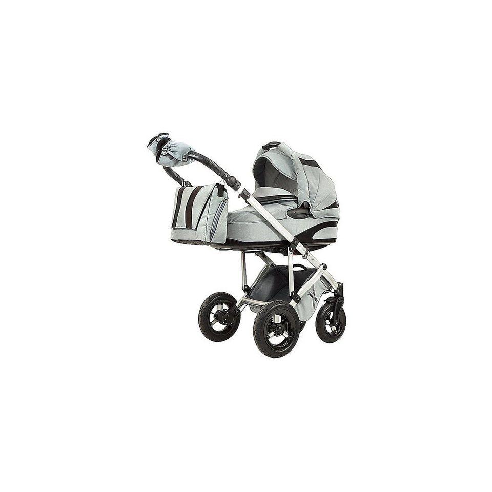 knorr-baby Kombi Kinderwagen NoXXter mit Wickeltasche, grau in grau