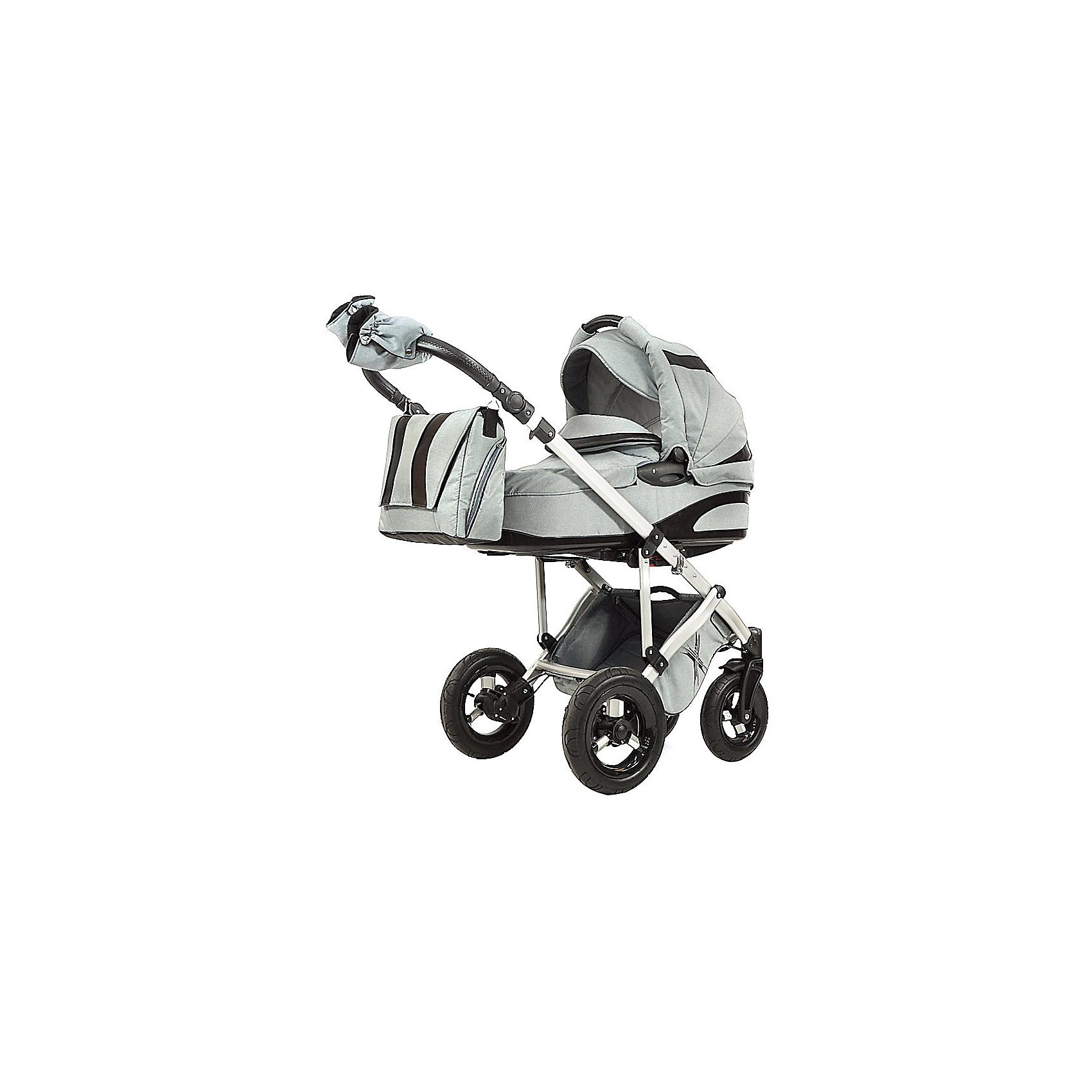 knorr-baby Kombi Kinderwagen NoXXter mit Wickeltasche, grau