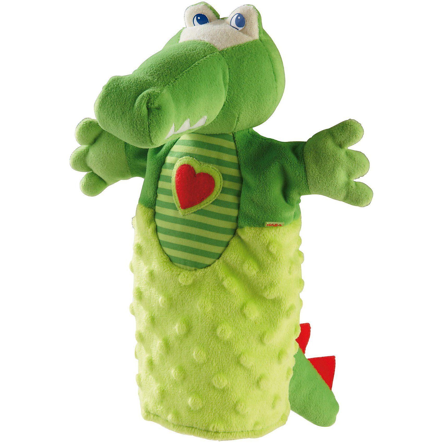 Haba 2178 Handpuppe Krokodil, 25 cm