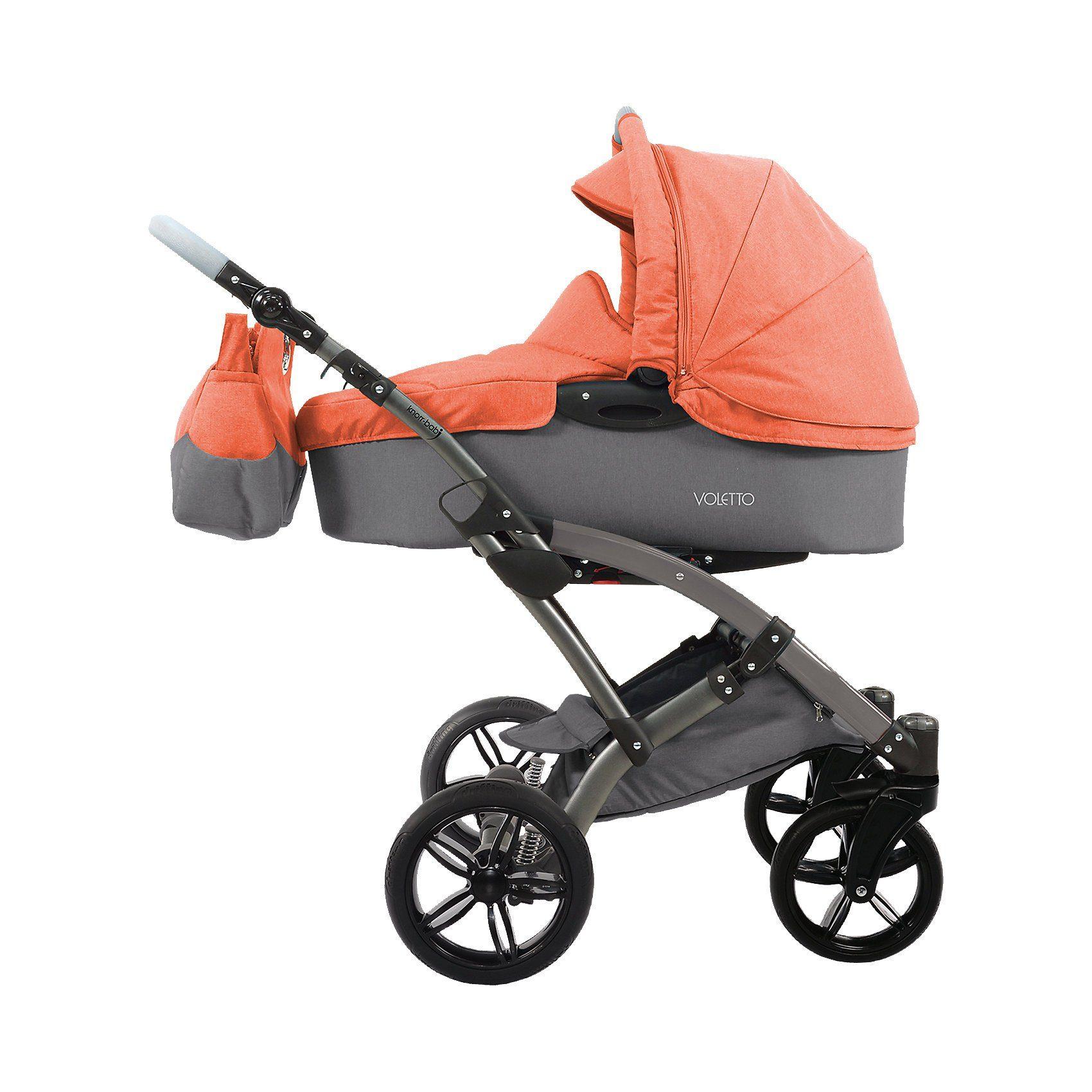 knorr-baby Kombi Kinderwagen Voletto Happy Colour, grau-orange