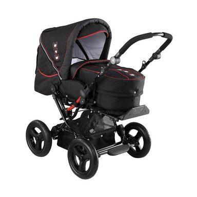 knorr baby kombi kinderwagen nizza deluxe mit 3in1 tragetasche schwar online kaufen otto. Black Bedroom Furniture Sets. Home Design Ideas