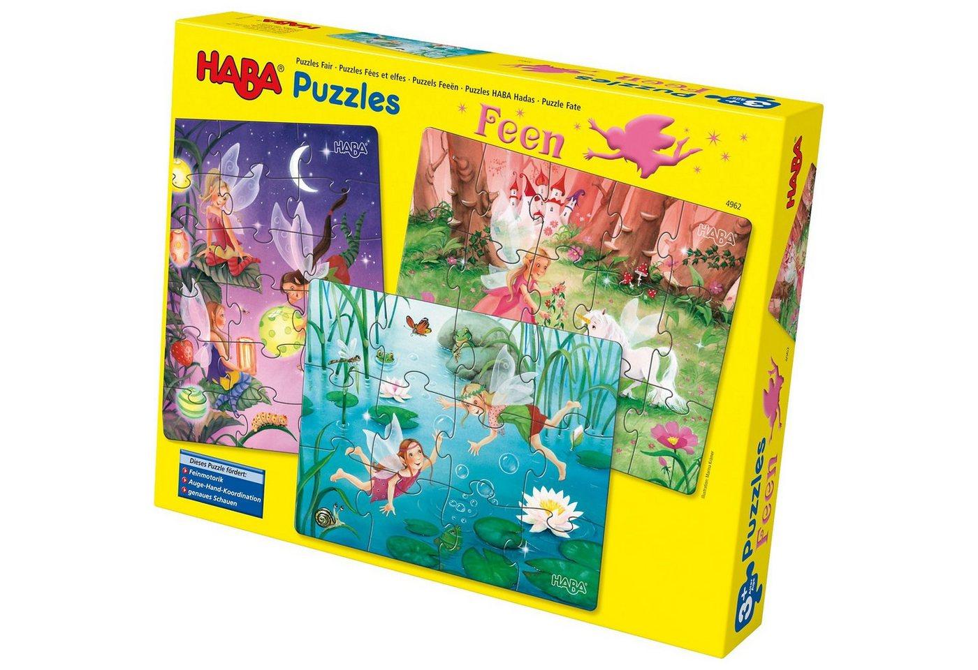 Haba 3 in 1 Puzzle-Set Feen - Preisvergleich