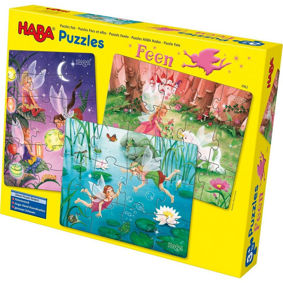 Haba 3 in 1 Puzzle-Set Feen