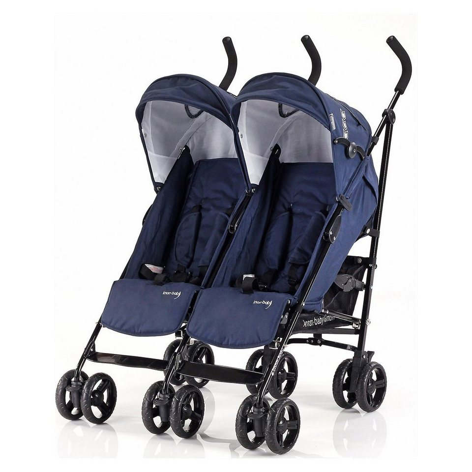 knorr-baby Zwillingsbuggy Side by Side, navy blue in navy