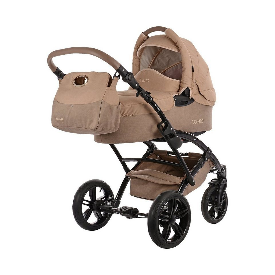 knorr-baby Kombi Kinderwagen Voletto Happy Colour mit Wickeltasche, san in beige