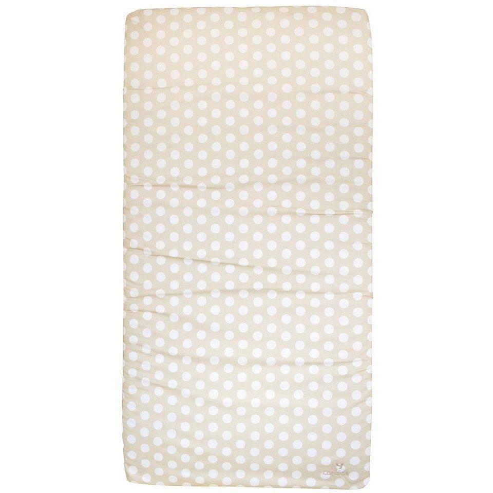candide Reisebettmatratze rollbar, 60 x 120 cm, gepunktet beige in weiß