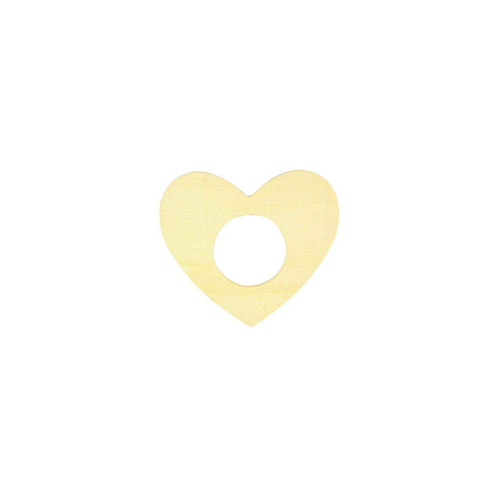 SUNNYSUE Serviettenringe Herz aus Holz zum Selbstgestalten, 12 Stück
