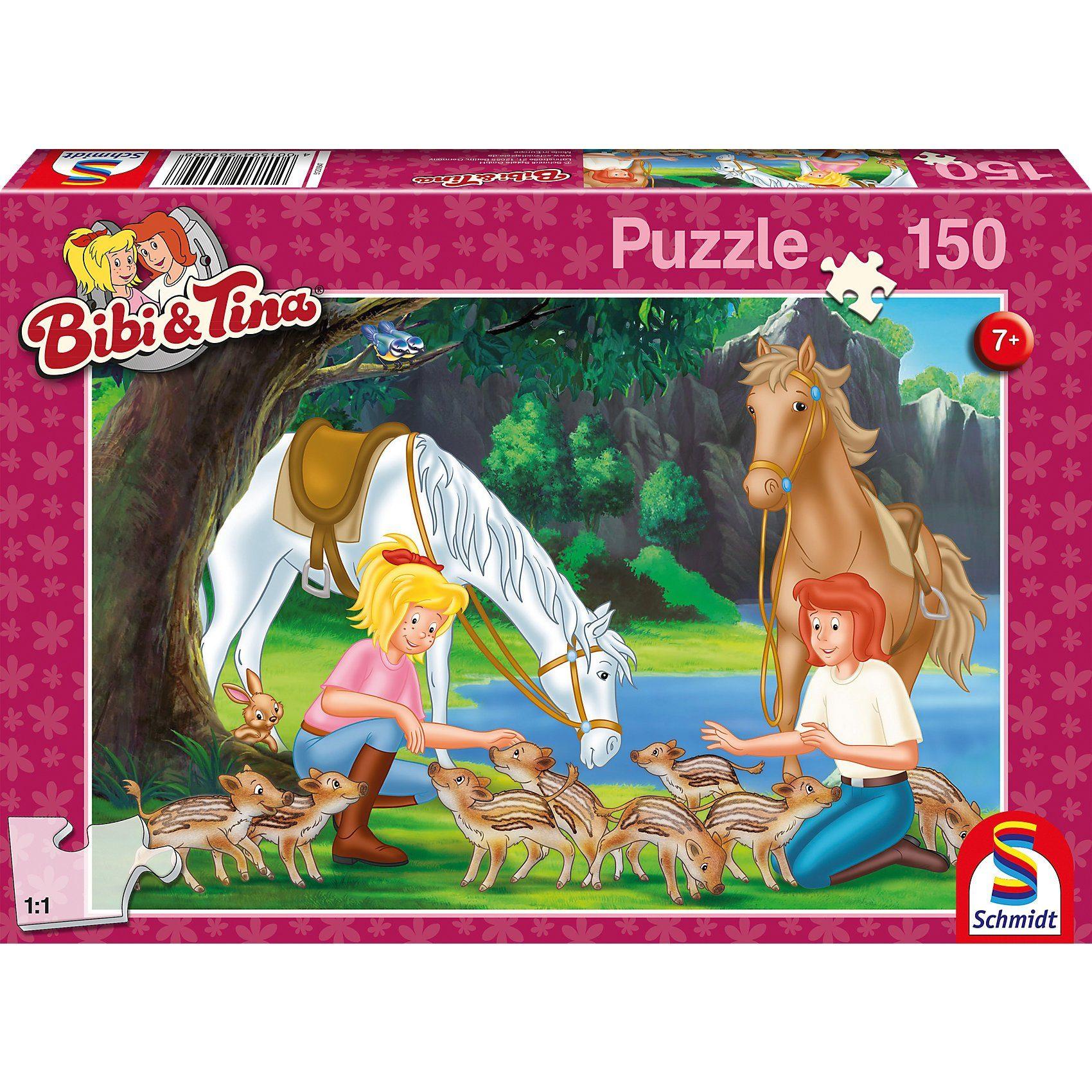 Schmidt Spiele Puzzle Bibi & Tina, Am Steinbruch, 150 Teile