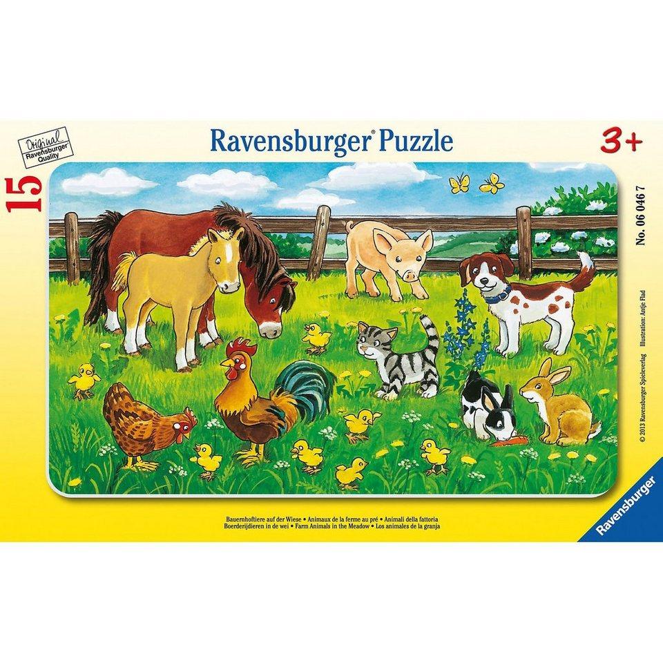 Ravensburger Puzzle Bauernhoftiere auf der Wiese 15 Teile