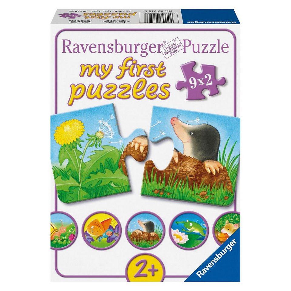 Ravensburger My first Puzzle 9 x 2 Teile Tiere im Garten