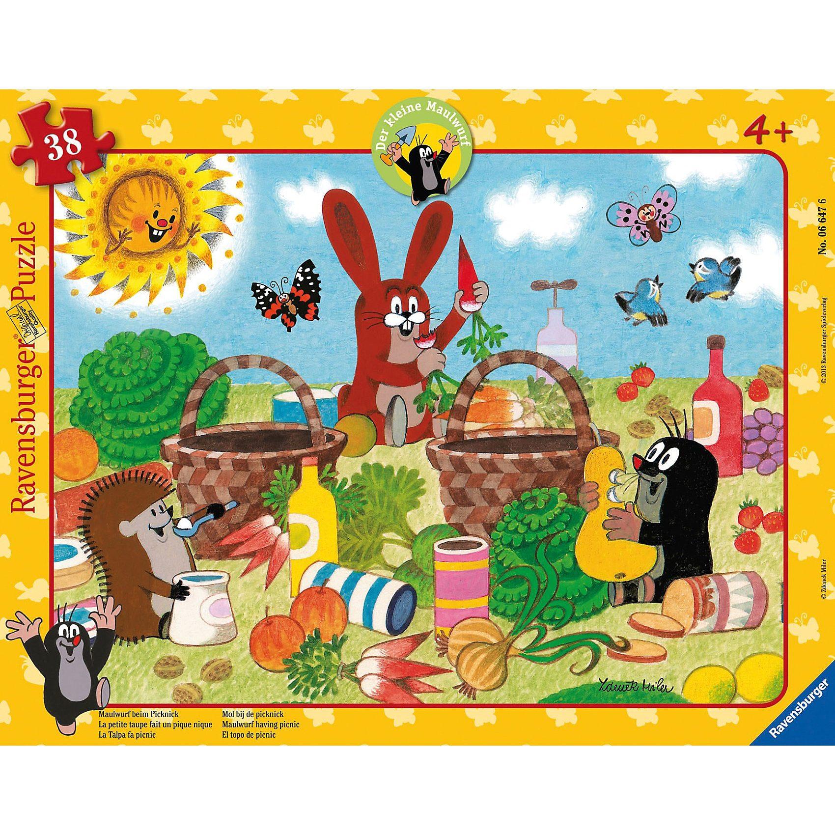 Ravensburger Puzzle Der kleine Maulwurf beim Picknick 38 Teile