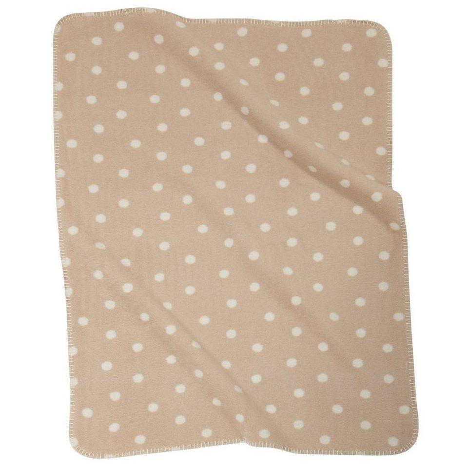 Alvi Babydecke mit UV-Schutz, beige gepunktet, 75 x 100 cm in braun
