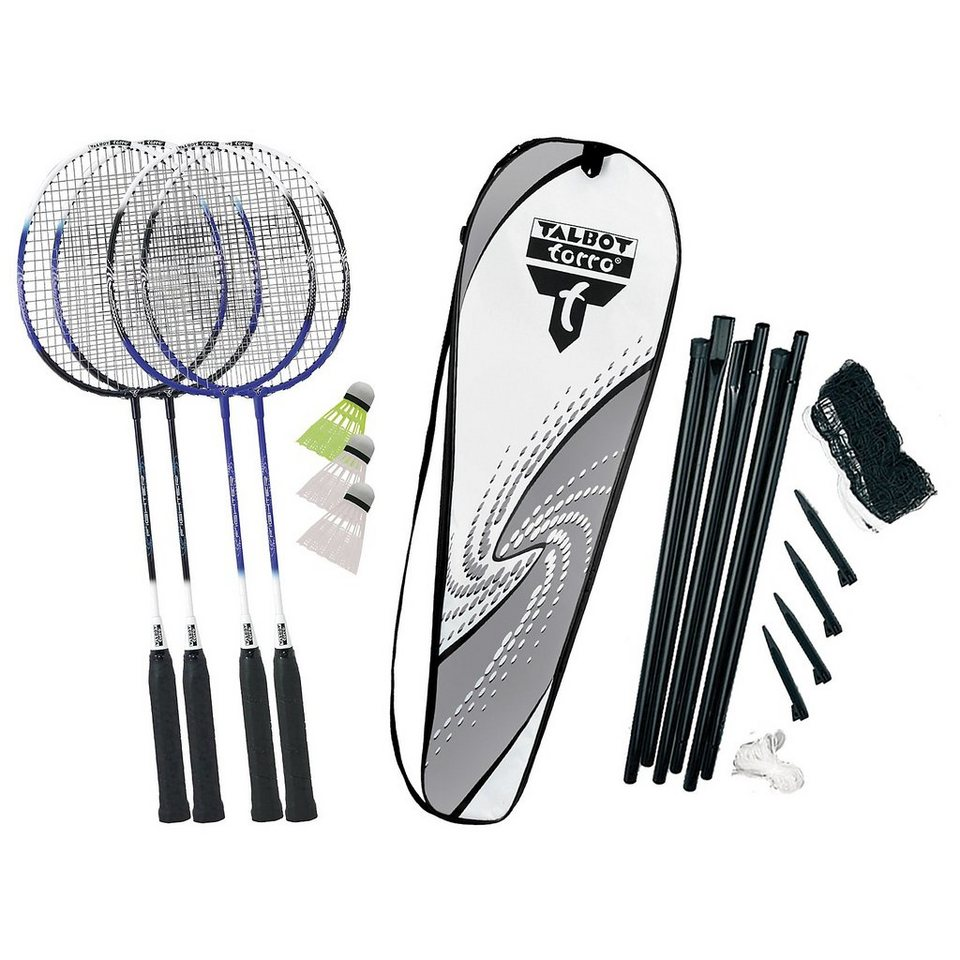 Talbot-Torro Badminton-Set 4-Fighter in silber