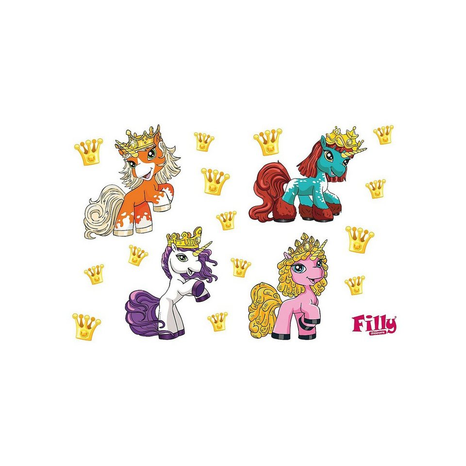 Wandsticker Filly, Party Set, 17-tlg. in mehrfarbig