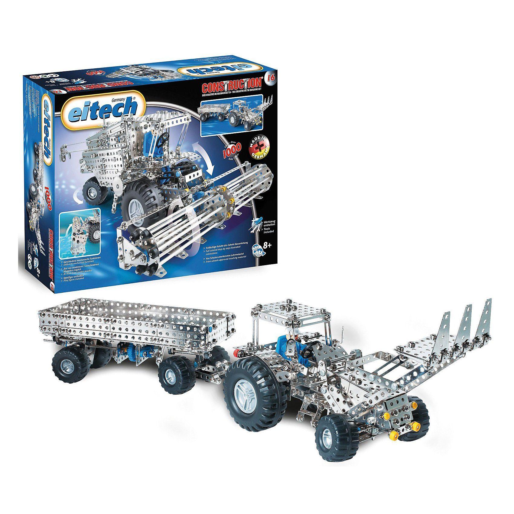 """Eitech C 16 KLASSIKER Metallbaukasten - """"Mähdrescher / Traktor inkl"""