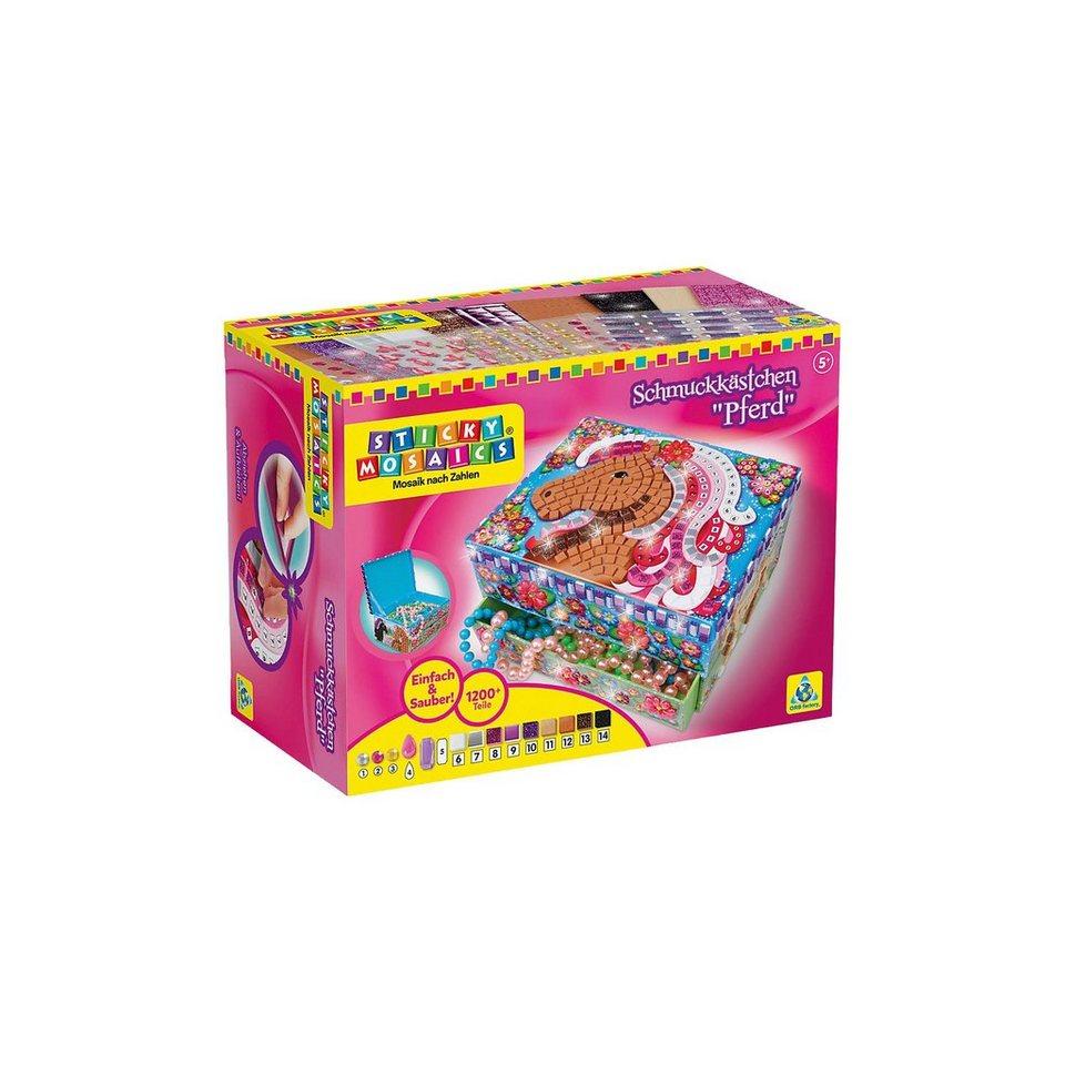 Sticky Mosaics Glitzernde Schmuckbox Wildpferde