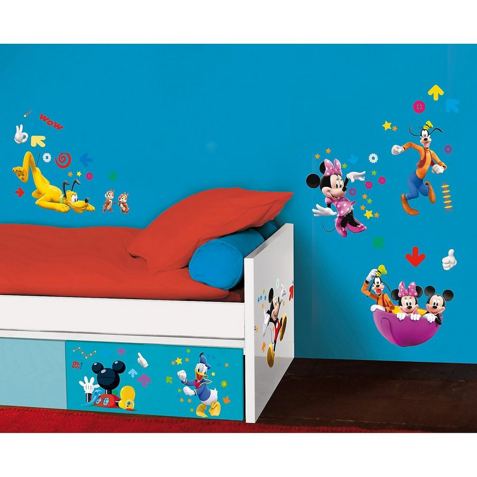 decofun wandsticker mickey mouse mickey minnie pluto. Black Bedroom Furniture Sets. Home Design Ideas