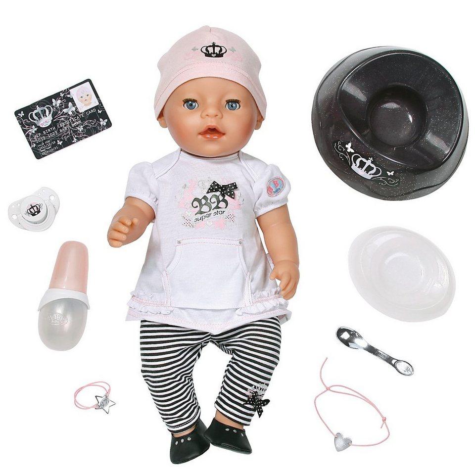 zapf creation baby born babypuppe interactive star otto. Black Bedroom Furniture Sets. Home Design Ideas