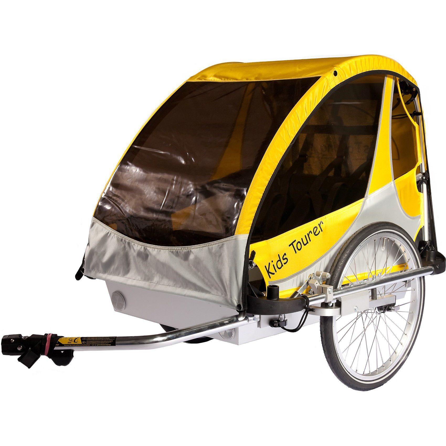 Kids Touring Fahrradanhänger Kid's Tourer L2, gelb/silber