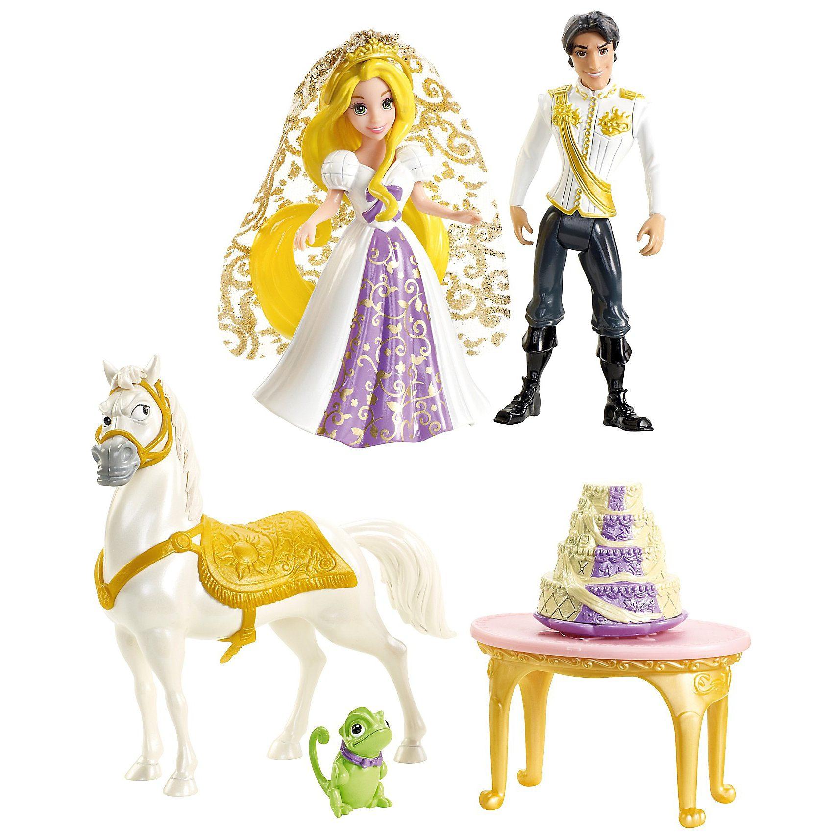 Mattel Disney Princess Hochzeit Geschenkset, Minipuppen