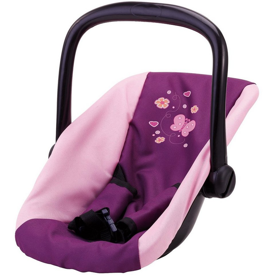 bayer puppenzubeh r autositz schmetterling lila pink online kaufen otto. Black Bedroom Furniture Sets. Home Design Ideas