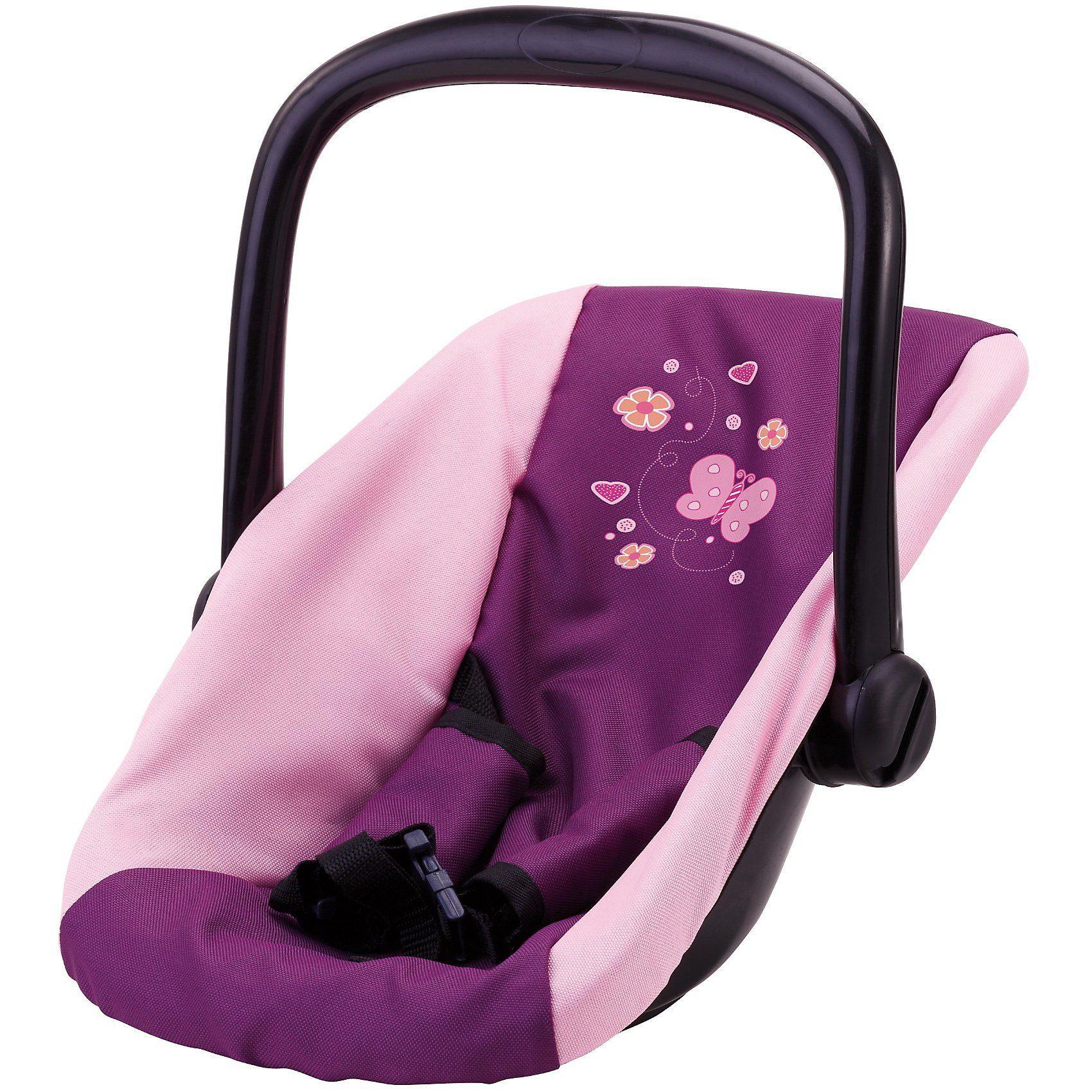 BAYER Puppenzubehör Autositz Schmetterling, lila-pink