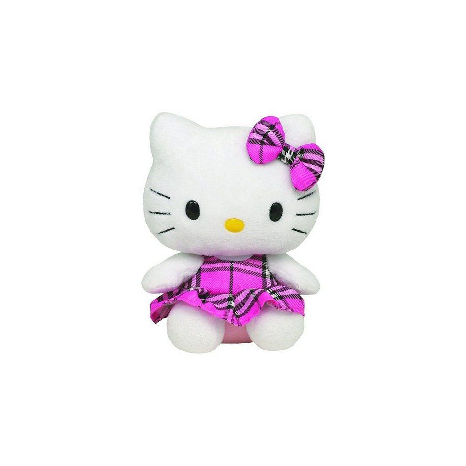 Ty Hello Kit Schottenrock pink klein, 15 cm
