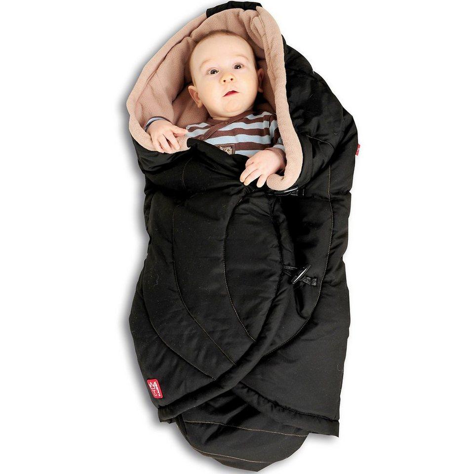 Kaiser Einschlagdecke CooCoon für Babyschale und Tragetasche, schwa in schwarz