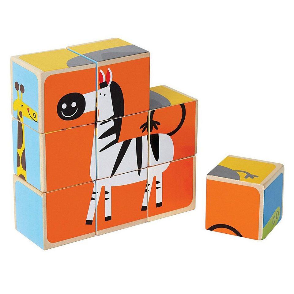 hape w rfel puzzle zootiere online kaufen otto. Black Bedroom Furniture Sets. Home Design Ideas