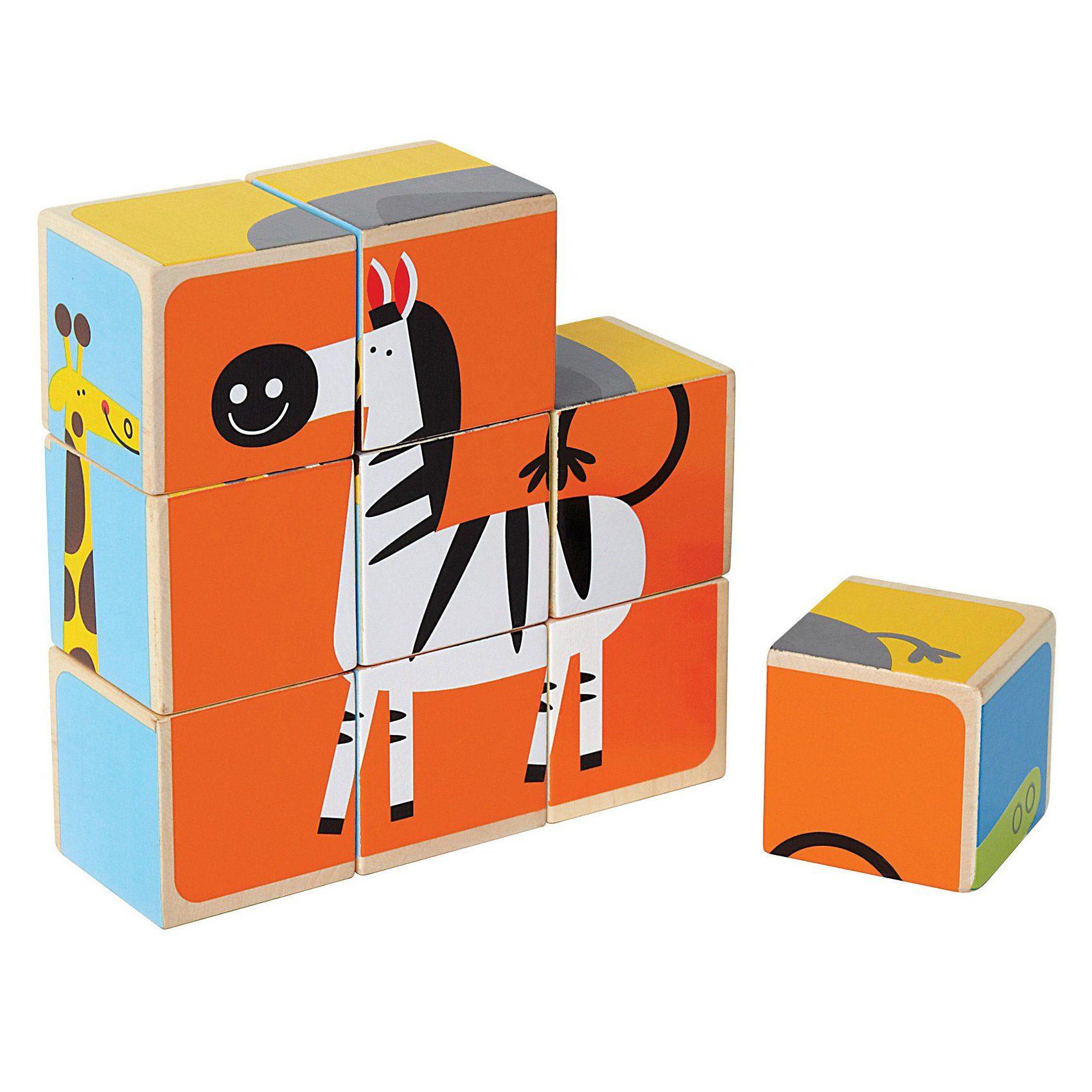 HAPE Würfel Puzzle Zootiere