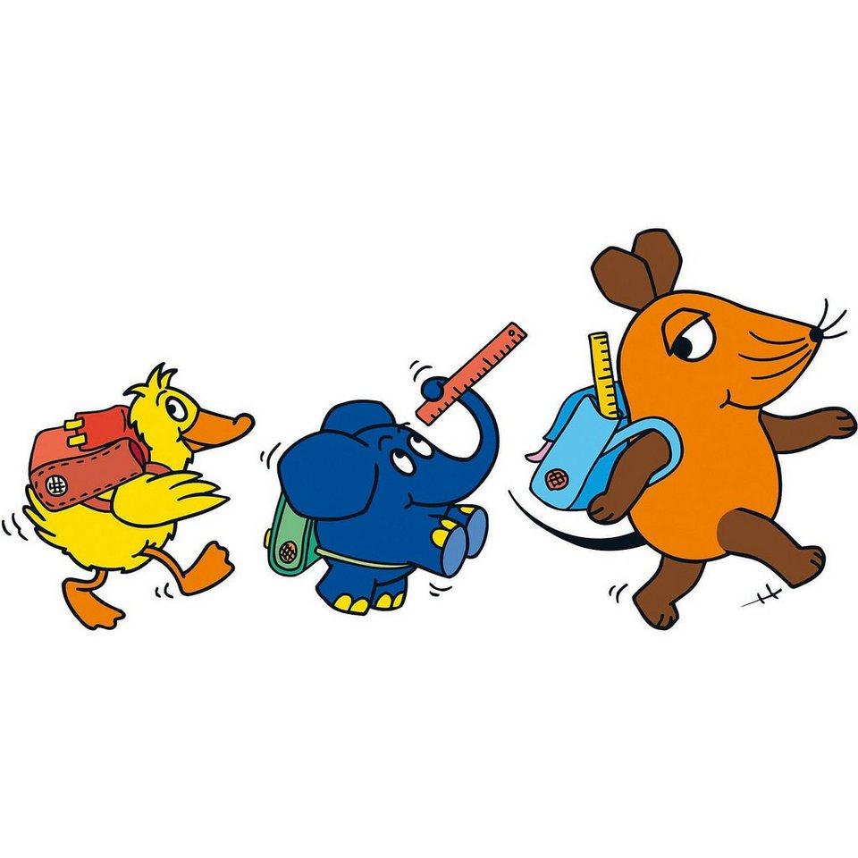 Wandsticker Xl Sendung Mit Der Maus Schulweg 3 Tlg Online Kaufen