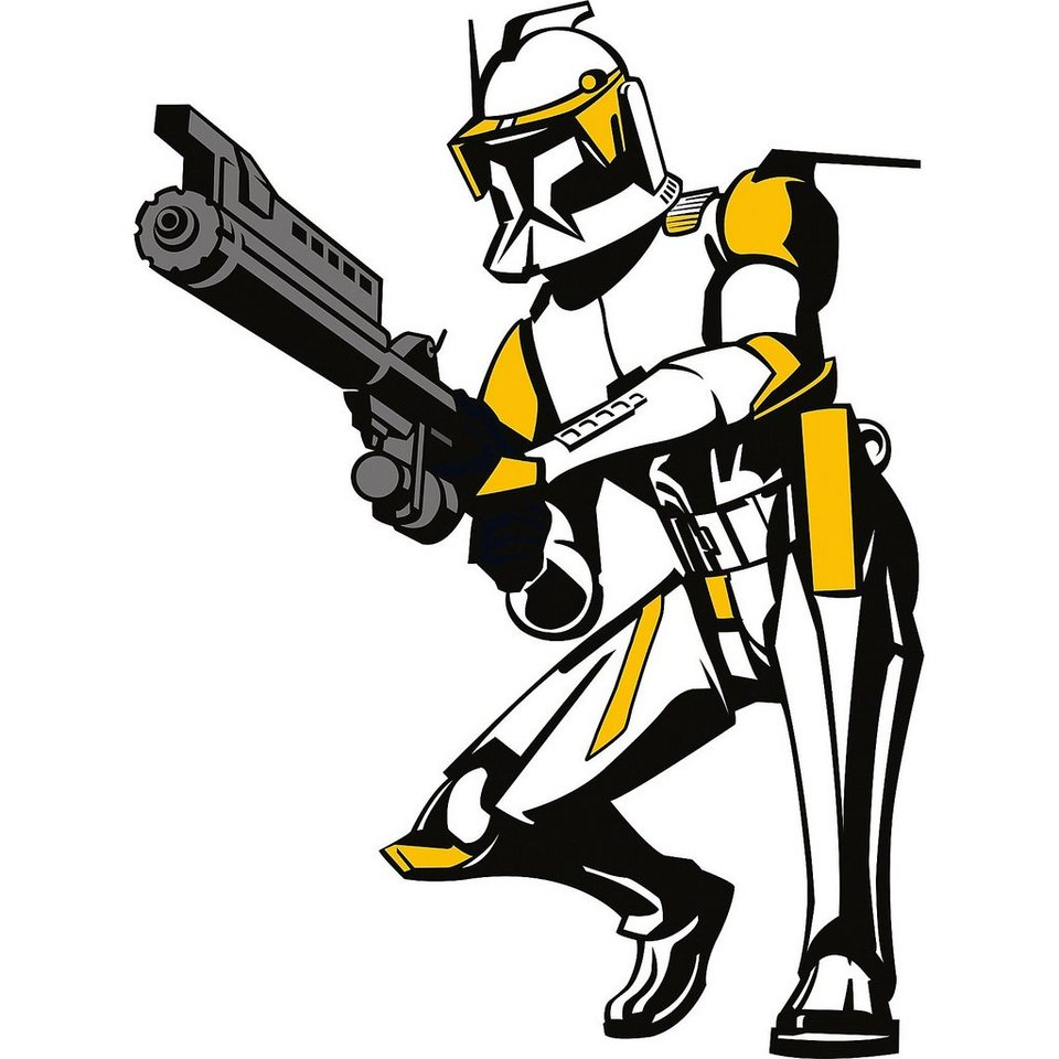 Tapeten Kinderzimmer Star Wars : Wandsticker XL Star Wars, Clone Commander Cody OTTO