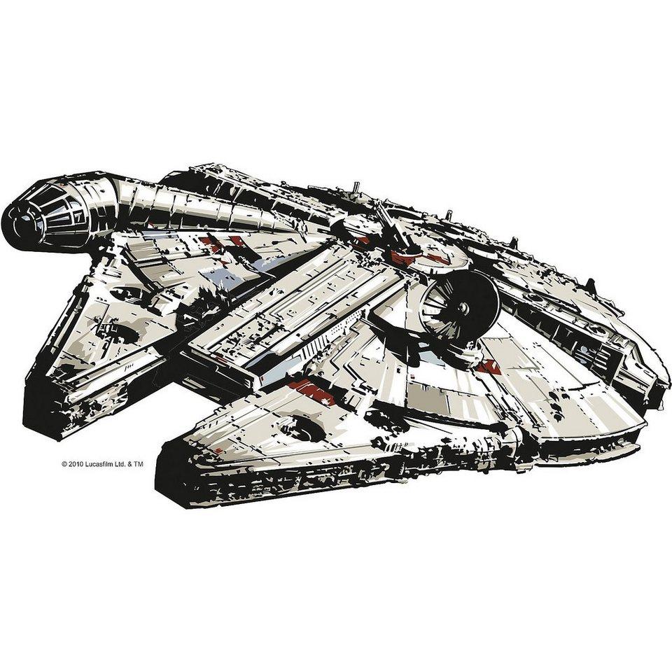 wandsticker xl star wars millenium falcon kaufen otto. Black Bedroom Furniture Sets. Home Design Ideas